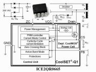 ICE2QR0665 Off-Line SMPS Quasi-Resonant PWM Controller + 650V CoolMOS 1 Stück