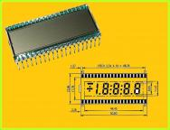 LCD-Display 4,5 -Digit 7-Segment STN Positive 8.9mm DE 128-RS-20/7.5 1 Stück