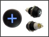 Druck Taster Switch 125VAC 0,4A Backlit Blue Pushbutton PLUS 1x